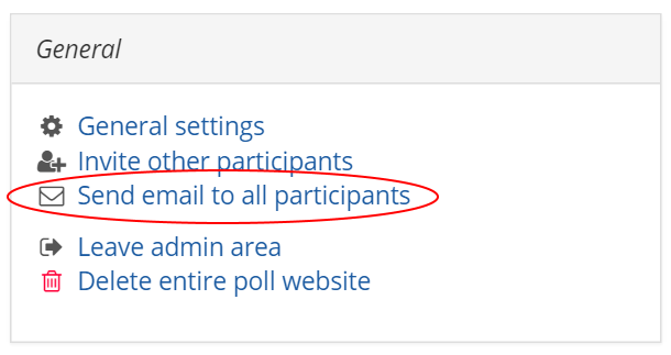 Send email to all participants - improved notification functionality