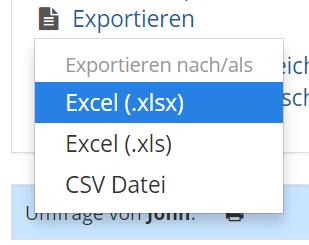 Umfragen exportieren